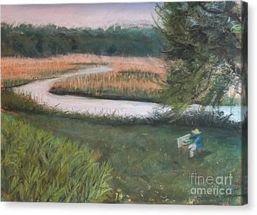 Lieutenant River In Lyme Ct Canvas Print by Laura Sullivan