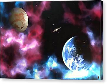 Life Among The Gas Clouds Canvas Print by Mario Carini