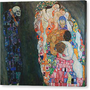 Death And Life Canvas Print by Gustav Klimt