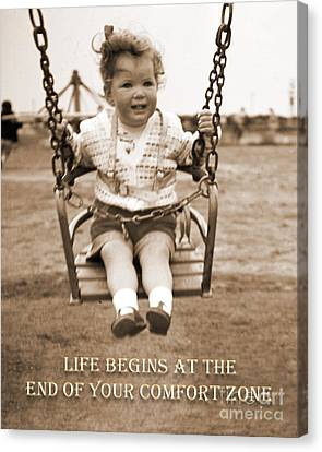 Life Begins Canvas Print