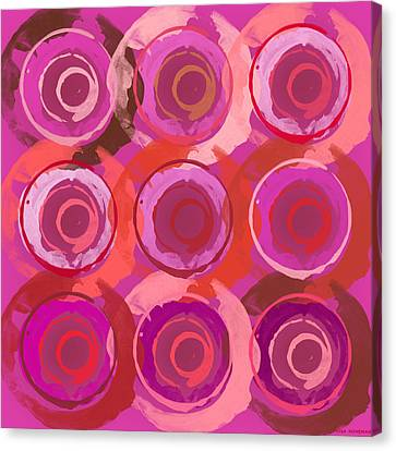 Life Circles Canvas Print by Lisa Noneman