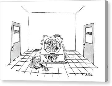 Washing Machine Canvas Print - 'life Cycle' by Jack Ziegler