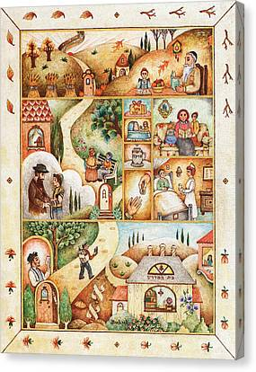 Jerusalem Canvas Print - Life Cycle by Michoel Muchnik