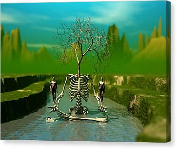 Life Death And The River Of Time Canvas Print