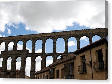 Life Framed By Aqueduct Canvas Print by Lorraine Devon Wilke