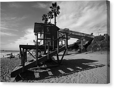 Life Guard Stand Canvas Print by Paul Scolieri