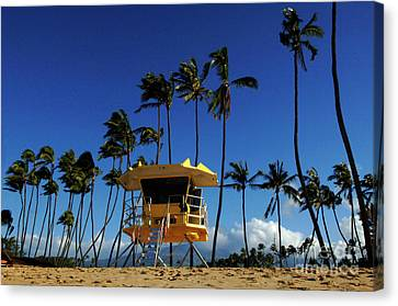 Life Guard Station Canvas Print by Bob Christopher