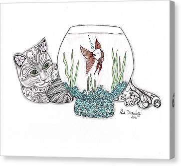 Life In A Bowl Canvas Print by Paula Dickerhoff