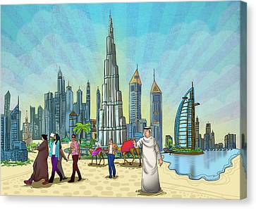 Life In Dubai Canvas Print