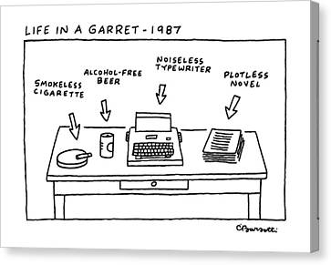 Life In Garret-1987 Canvas Print by Charles Barsotti