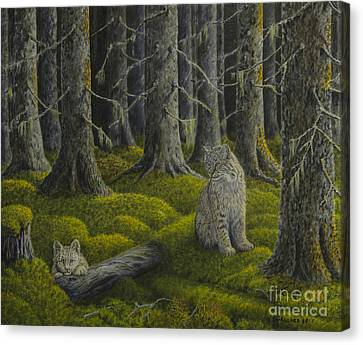 Life In The Woodland Canvas Print