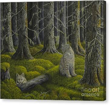 Harmonious Canvas Print - Life In The Woodland by Veikko Suikkanen