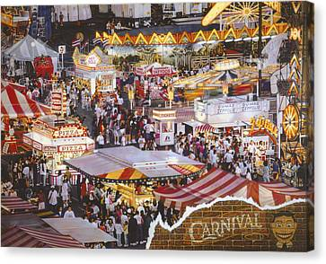 Life Is A Carnival Canvas Print by Bill Jonas