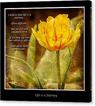 Life Is A Journey - Photography By Jordan Blackstone Canvas Print by Jordan Blackstone