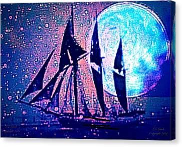 I Am Sailing Canvas Print - Life Is But A Dream I by Larry Lamb