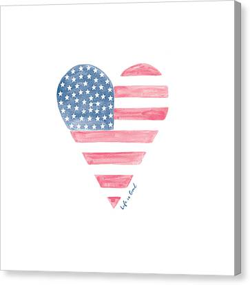 Life Is Good Heart Flag Canvas Print by Life is Good