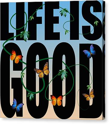 Caricature Canvas Print - Life Is Good  by Mark Ashkenazi