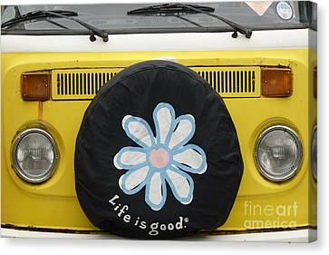 Life Is Good With Vw Canvas Print by Wendy Wilton