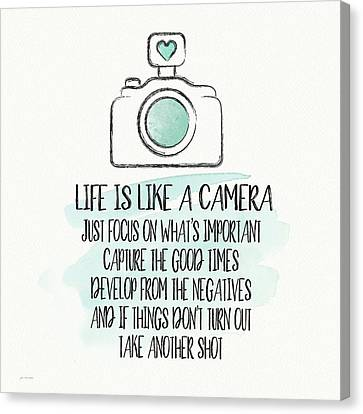 Camera Canvas Print - Life Is Like A Camera by Jo Moulton