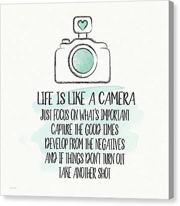 Camera Canvas Print - Life Is Like A Camera by Jo Moulton