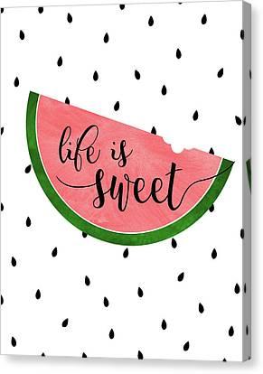 Watermelon Canvas Print - Life Is Sweet - Watermelon by Anna Quach