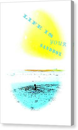 Life Is Your Sandbox Canvas Print by Brian D Meredith
