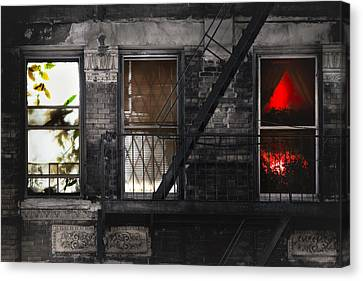 Life Learning And Love - Three Windows And A Story Canvas Print