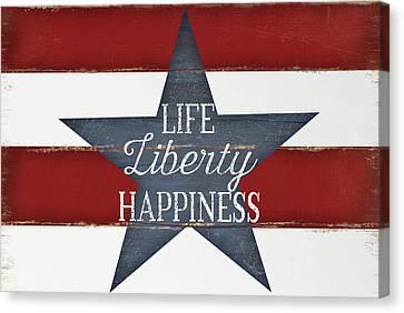 Life, Liberty, Happiness Canvas Print by Jennifer Pugh
