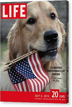 Life Magazine Independence Day 4 July 2014 Canvas Print by Nop Briex