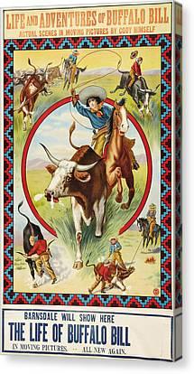 Life Of Buffalo Bill, Poster Art, 1912 Canvas Print