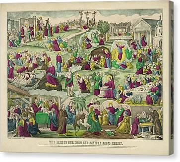 Last Supper Canvas Print - Life Of Christ C. 1880 by Daniel Hagerman