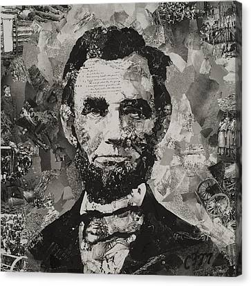 Face Canvas Print - Life Of Lincoln by Claire Muller