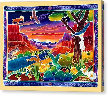 Canyon Canvas Print - Life Of The Desert by Harriet Peck Taylor