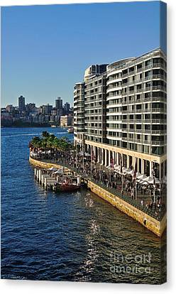 Life On Sydney Harbour Foreshores Canvas Print
