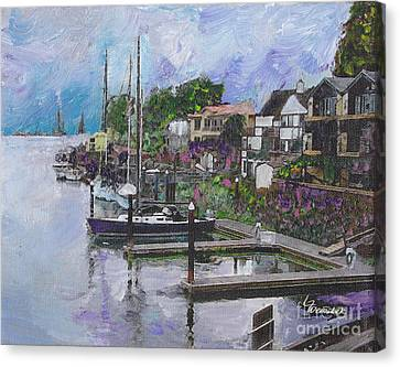 Alameda Life On The Estuary Canvas Print by Linda Weinstock