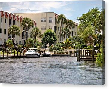 Life On The Intracoastal Canvas Print