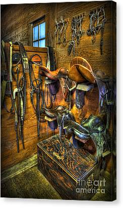 Life On The Ranch - Tack Room Canvas Print by Lee Dos Santos
