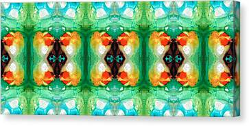 Life Patterns 1 - Abstract Art By Sharon Cummings Canvas Print by Sharon Cummings