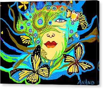 Life Study-11 Canvas Print by Anand Swaroop Manchiraju