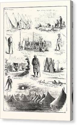 Life Under Canvas, Sketches At The Volunteer Camp Canvas Print