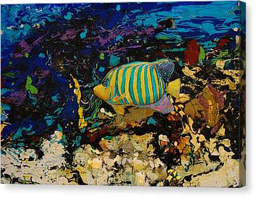 Life Underwater Canvas Print by Jean Cormier