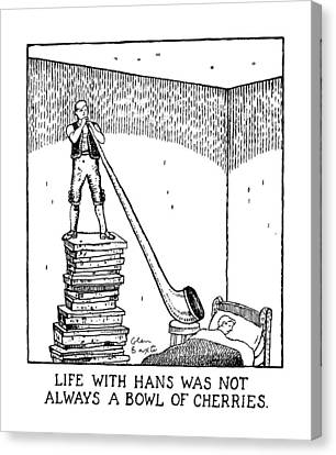 Ears Canvas Print - Life With Hans Was Not Always A Bowl Of Cherries by Glen Baxter