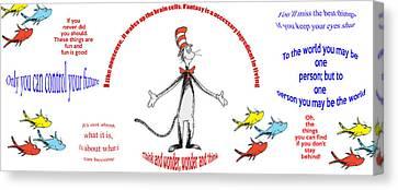Diversity Canvas Print - Life Words - Dr Seuss by Georgia Fowler
