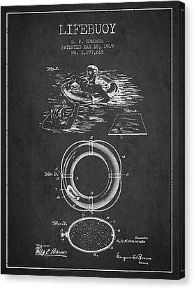 Lifebelt Canvas Print - Lifebuoy Patent From 1919 - Charcoal by Aged Pixel