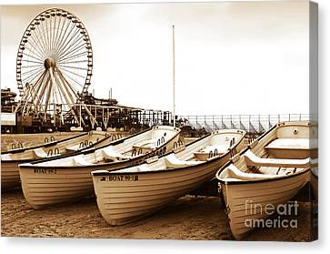 Lifeguard Boats Canvas Print