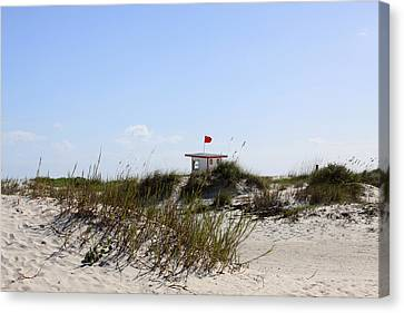 Canvas Print featuring the photograph Lifeguard Station by Chris Thomas