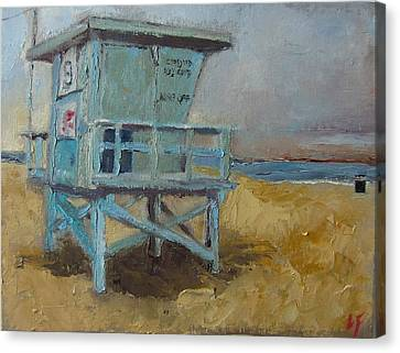 Lifeguard Station One Canvas Print by Lindsay Frost