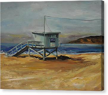 Lifeguard Station Twenty Two Canvas Print by Lindsay Frost
