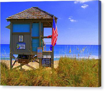 Canvas Print featuring the photograph Lifeguard by Artists With Autism Inc