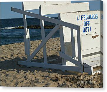 Lifeguards Off Duty - Ocean Grove Nj Canvas Print